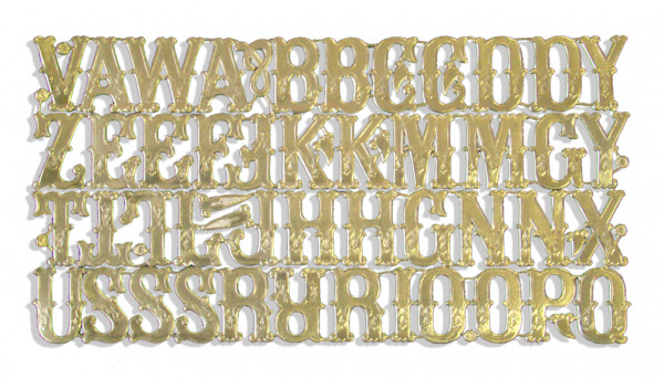 Buchstaben 3,5 cm Sortiment 46er Set