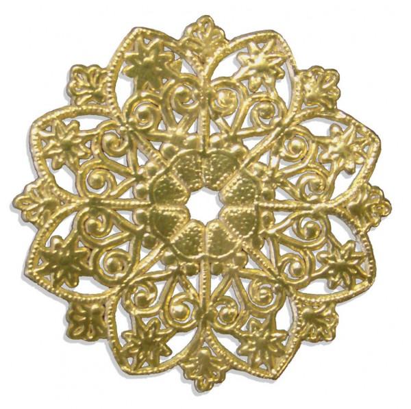 Kerzenmanschette / Ornament Ø 5 cm 10er Set